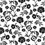Flowers black-white PPD