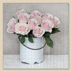 Bucket with roses SVD