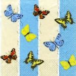 Butterflies blue-beige