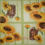 Sunflowers green 1/2