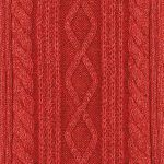 Cable stitch red
