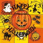 Happy Halloween yellow-orange