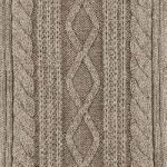 Cable stitch taupe