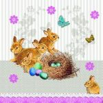 Bunnies nest taupe