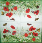 Poppy and butterfly 1/2