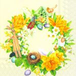 IHR Daffodil wreath cream