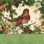Robins in green