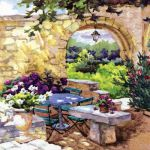 Patio morning in Provence