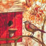 IHR Birdhouse red