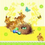 Bunnies nest yellow PACKUNG