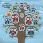 Owl family tree blue PACKUNG