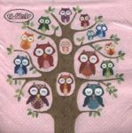 Owl family tree pink PACKUNG