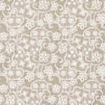 Flowers lace taupe
