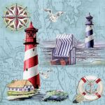 Nautical chart and icons
