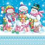 Snowmen with presents