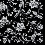 Arabesque black black-white