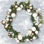 Christmas wreath white-green