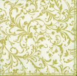 Damask cream gold