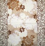 Flowers in bloom cream-brown 1/1