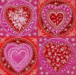 IHR Lace hearts red