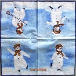 IHR Snowman light blue
