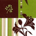 Lys flower brown-green