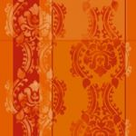 Oriental ornament orange