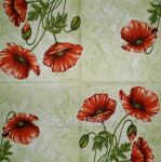Poppies red-green 1/2