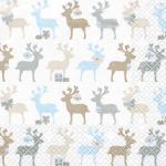 Reindeers white-blue