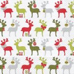 Reindeers white-green