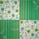 Retro flowers green 1/2