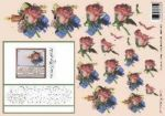 Gesteck mit Rose - Stiching sheet 3DSS1